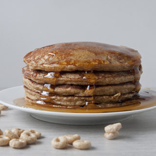 Honey Nut Cheerio Pancakes