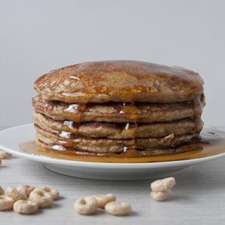 Honey Nut Cheerio Pancakes