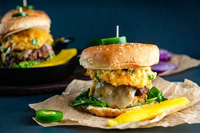 Jalapeno Popper Stuffed Burgers Seasoned Sprinkles