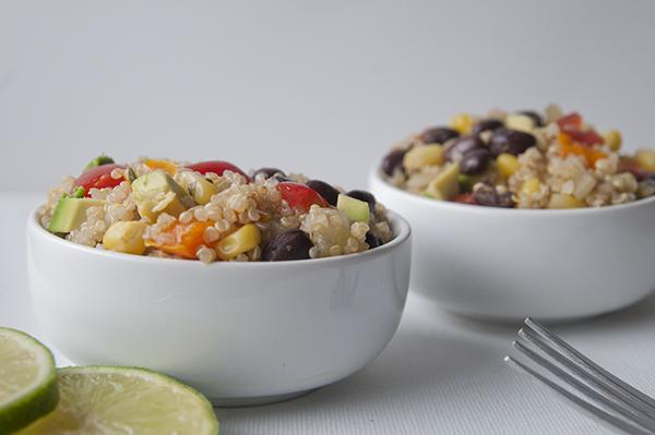 Mexican quinoa with lime vinaigrette