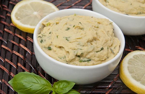 Lemon Pesto Hummus