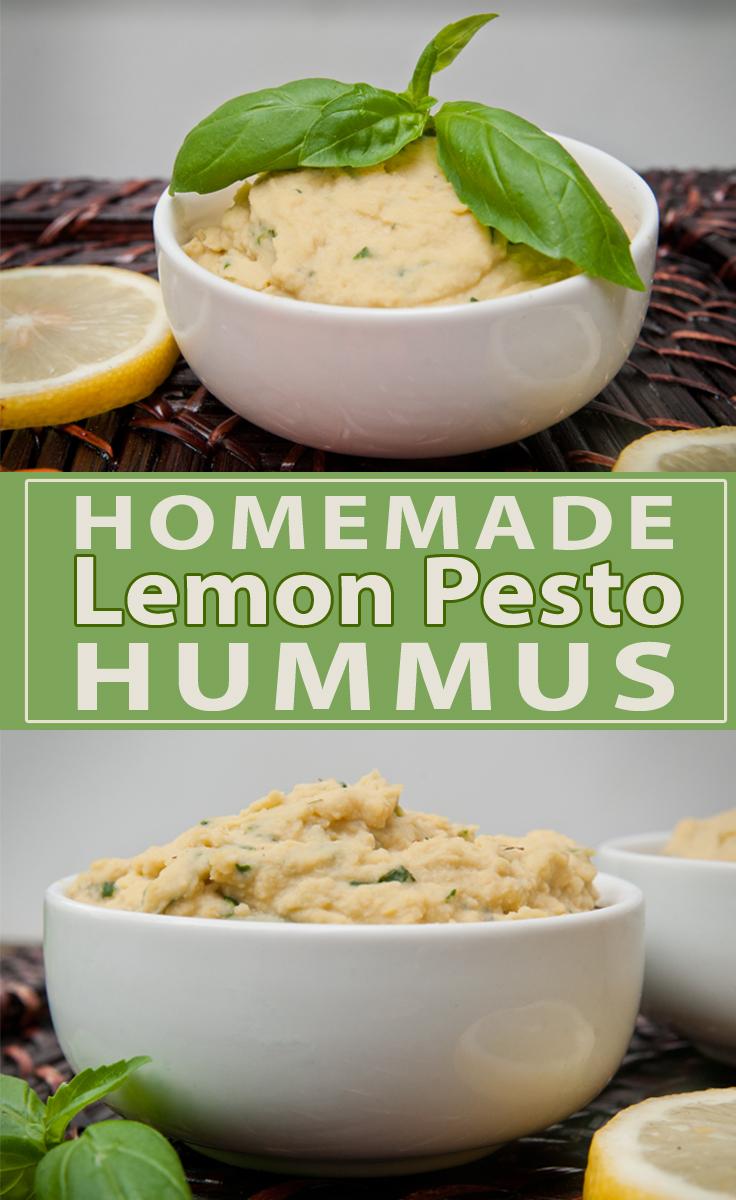 Homemade Lemon Pesto Hummus Seasoned Sprinkles