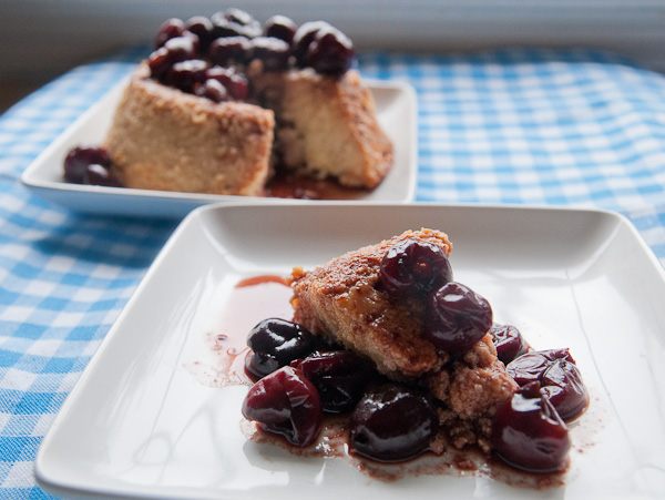 Honey Glazed Baked Ricotta with Balsamic Cherries
