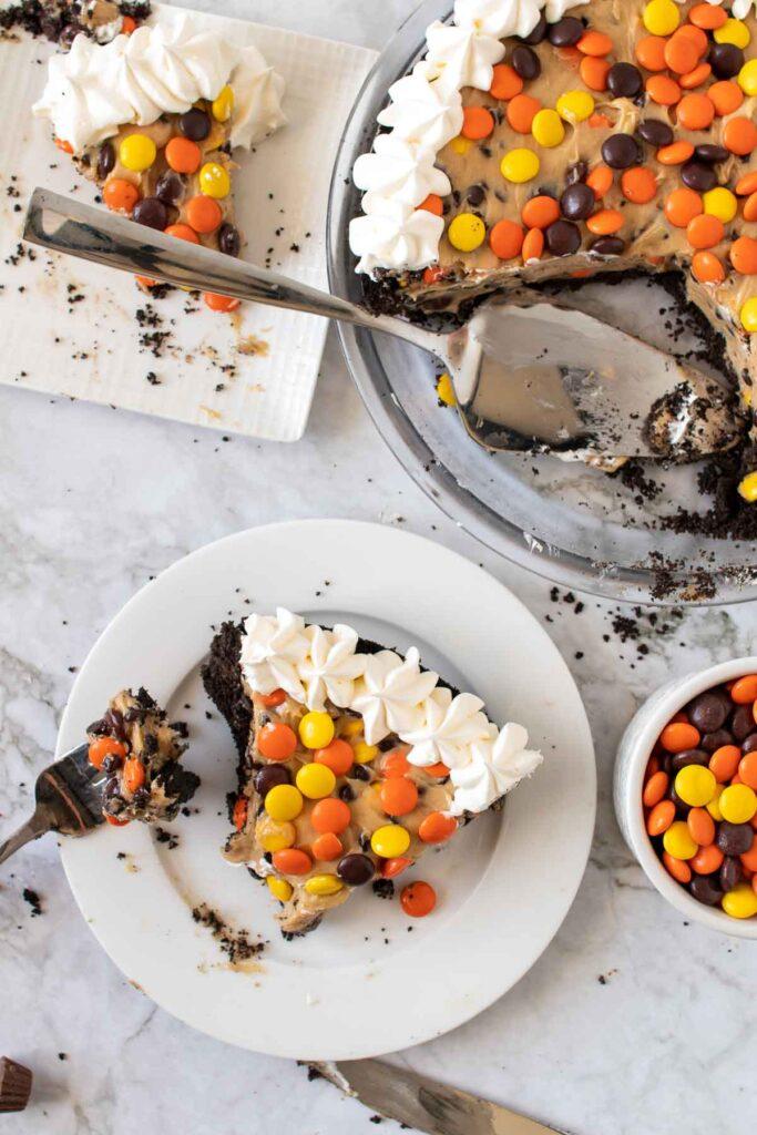 No Bake Peanut Butter Pie-9