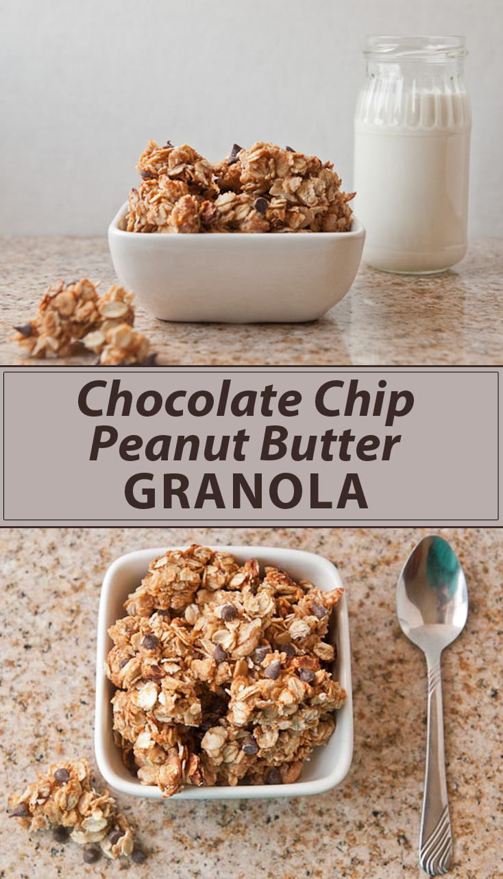 Quick and Easy Chocolate Chip Peanut Butter Granola
