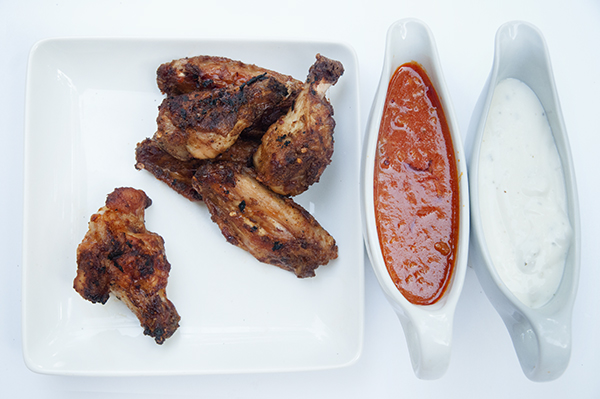 Grilled Buffalo Wings with Homemade Buffalo Sauce