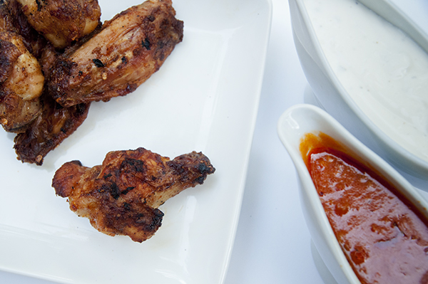 Grilled Buffalo Wings with Homemade Buffalo Sauce
