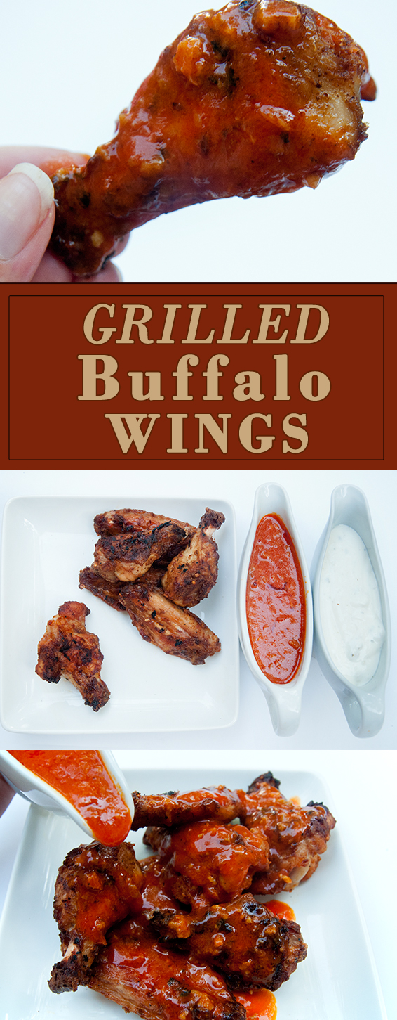 Grilled Buffalo Wings with Homemade Wing Sauce