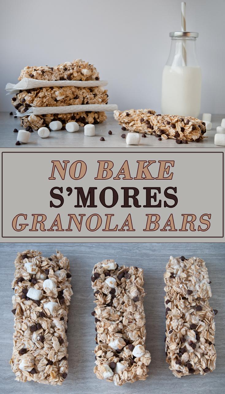 No Bake S'mores Granola Bars