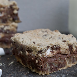 S'mores Stuffed Cookie Bars