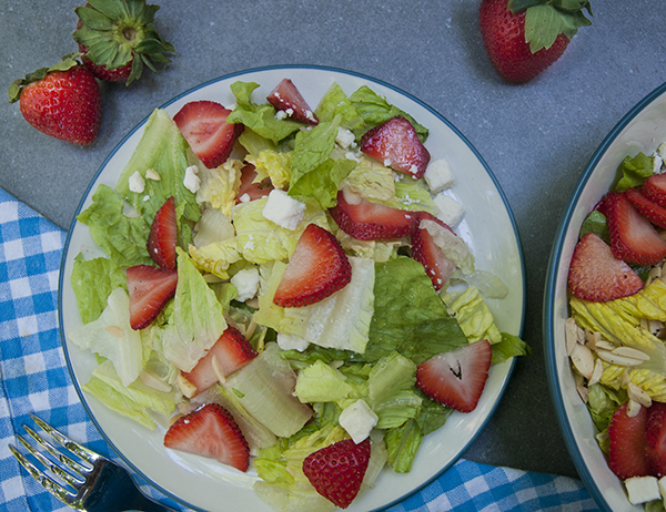 Summer Strawberry Salad with Toasted Almonds