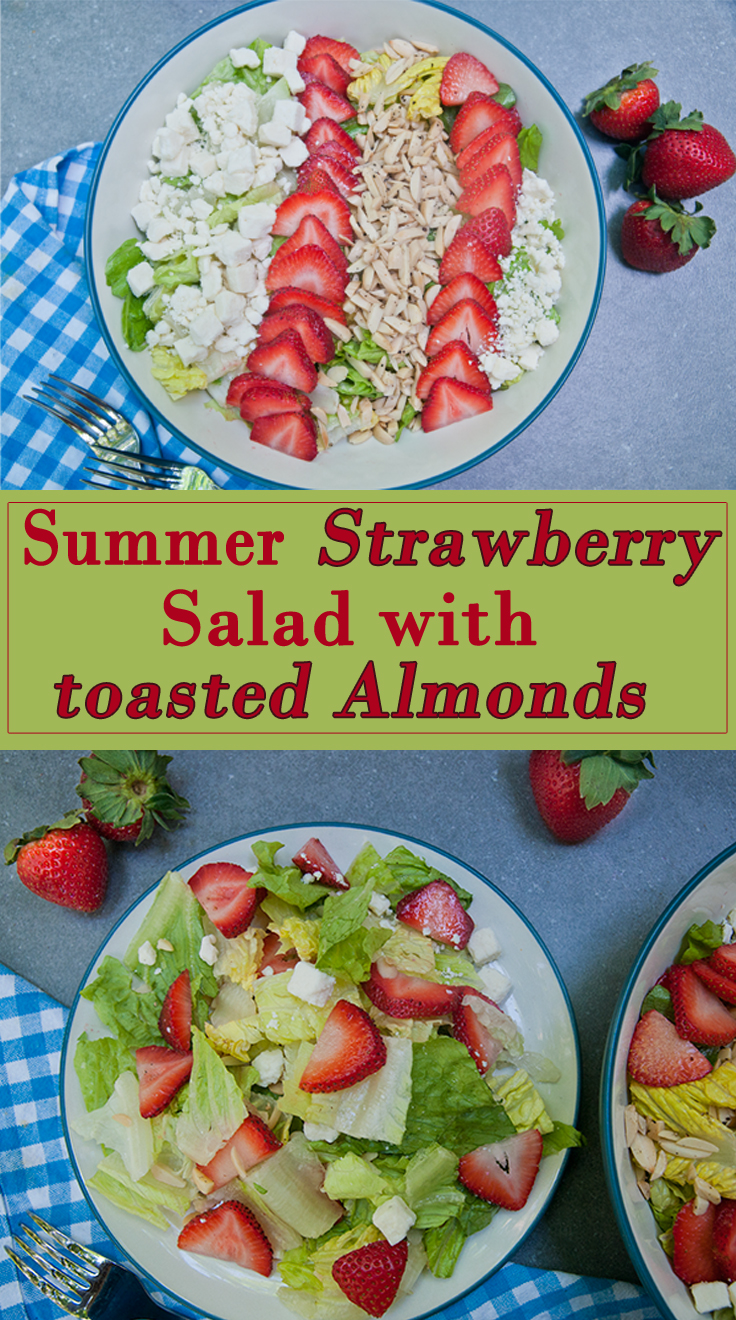 Strawberry Summer Salad with Toasted Almonds