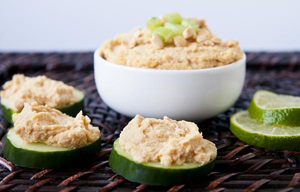 Spicy Thai Style Peanut Hummus