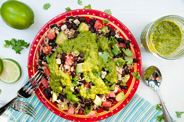 Black Bean Salad with Chimichurri Sauce
