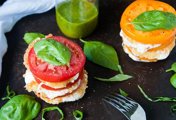 Fried Mozzarella Caprese Salad