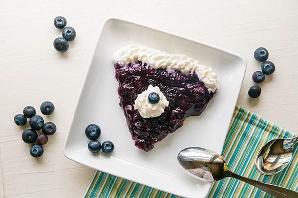 Stove Top No Bake Blueberry Pie