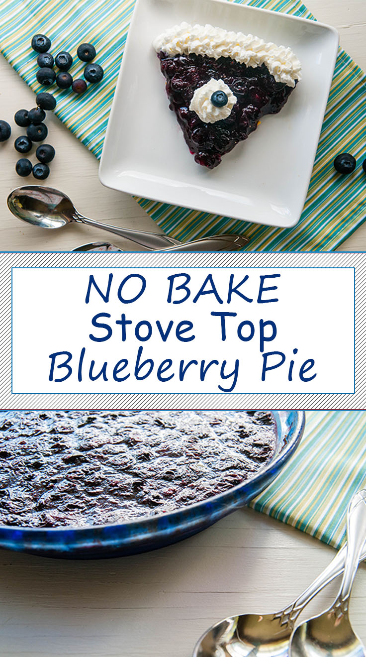 Stove Top No Bake Blueberry Pie
