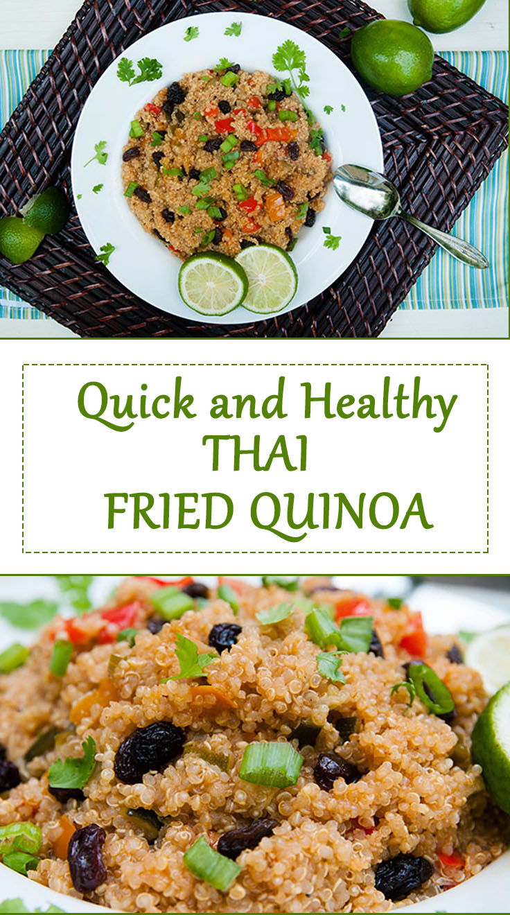 Quick and Healthy Thai Fried Quinoa