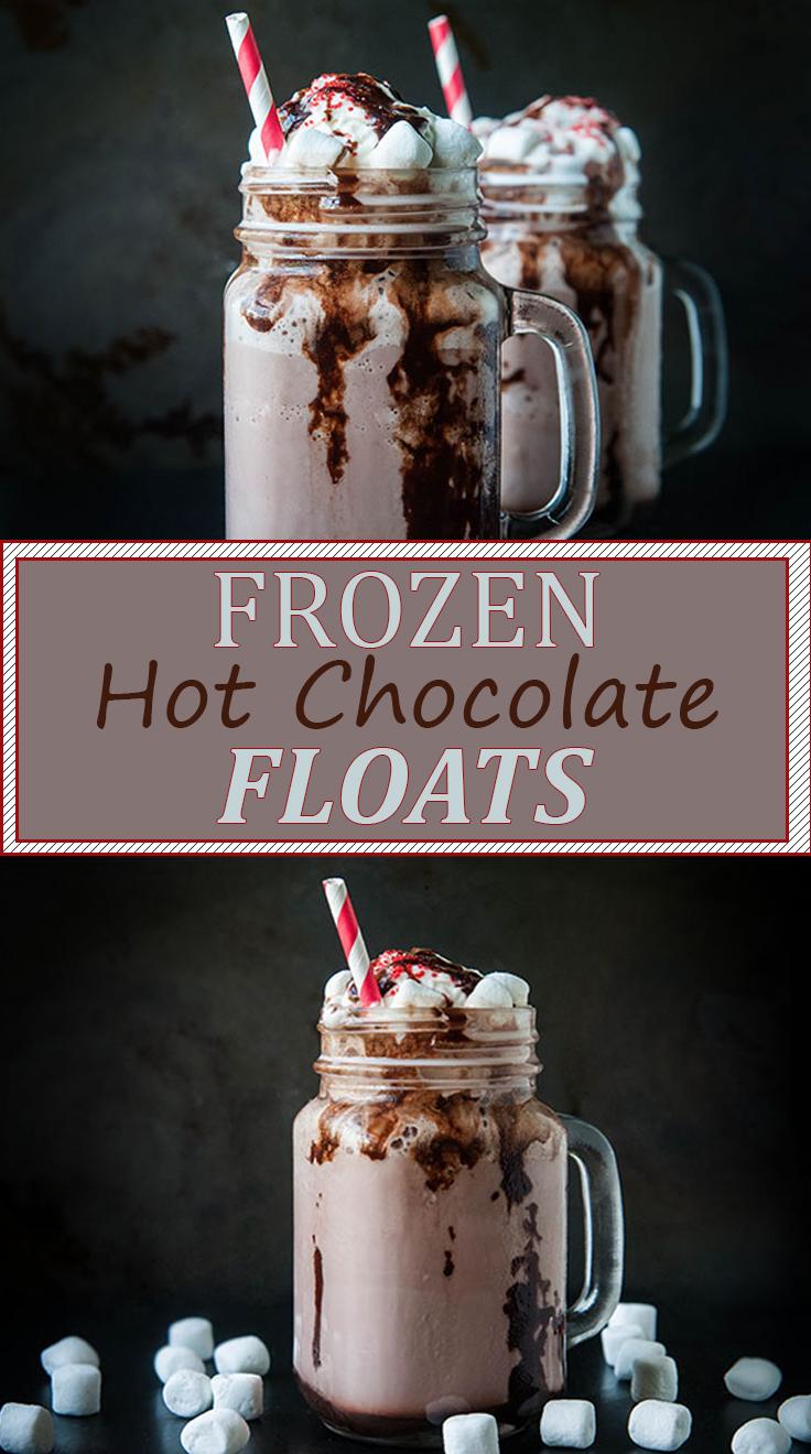 Frozen Hot Chocolate Floats