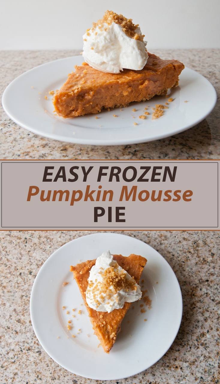 Easy Frozen Pumpkin Mousse Pie - Seasoned Sprinkles Seasoned Sprinkles