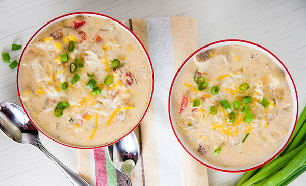 Cheesy Vegetarian Corn Chowder