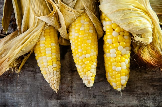 Roasting corn on the cob brings out its natural sweetness and means no shucking needed.