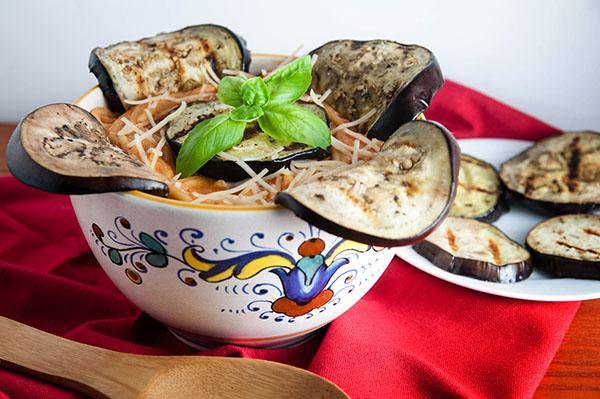 Easy Grilled Eggplant Rollatini Pasta