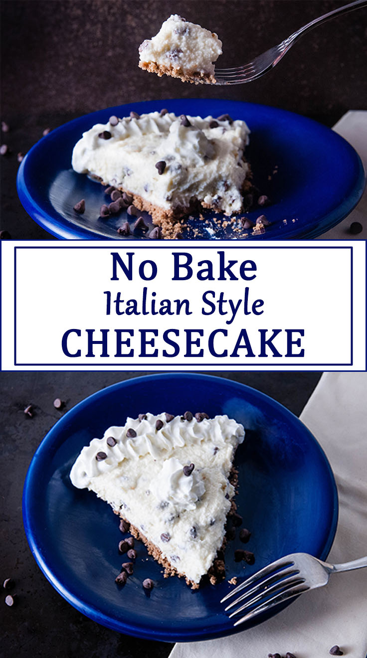 No Bake Italian Style Cheesecake
