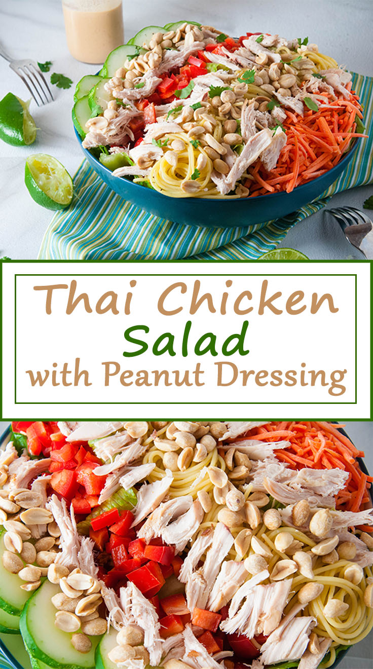 Thai Chicken Salad with Peanut Butter Dressing