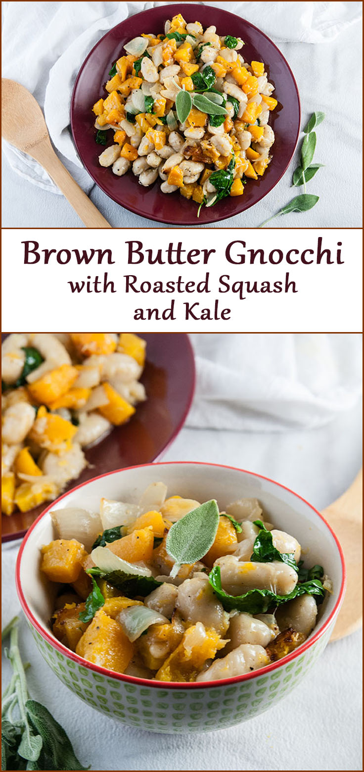 Brown Butter Gnocchi with Butternut Squash and Kale