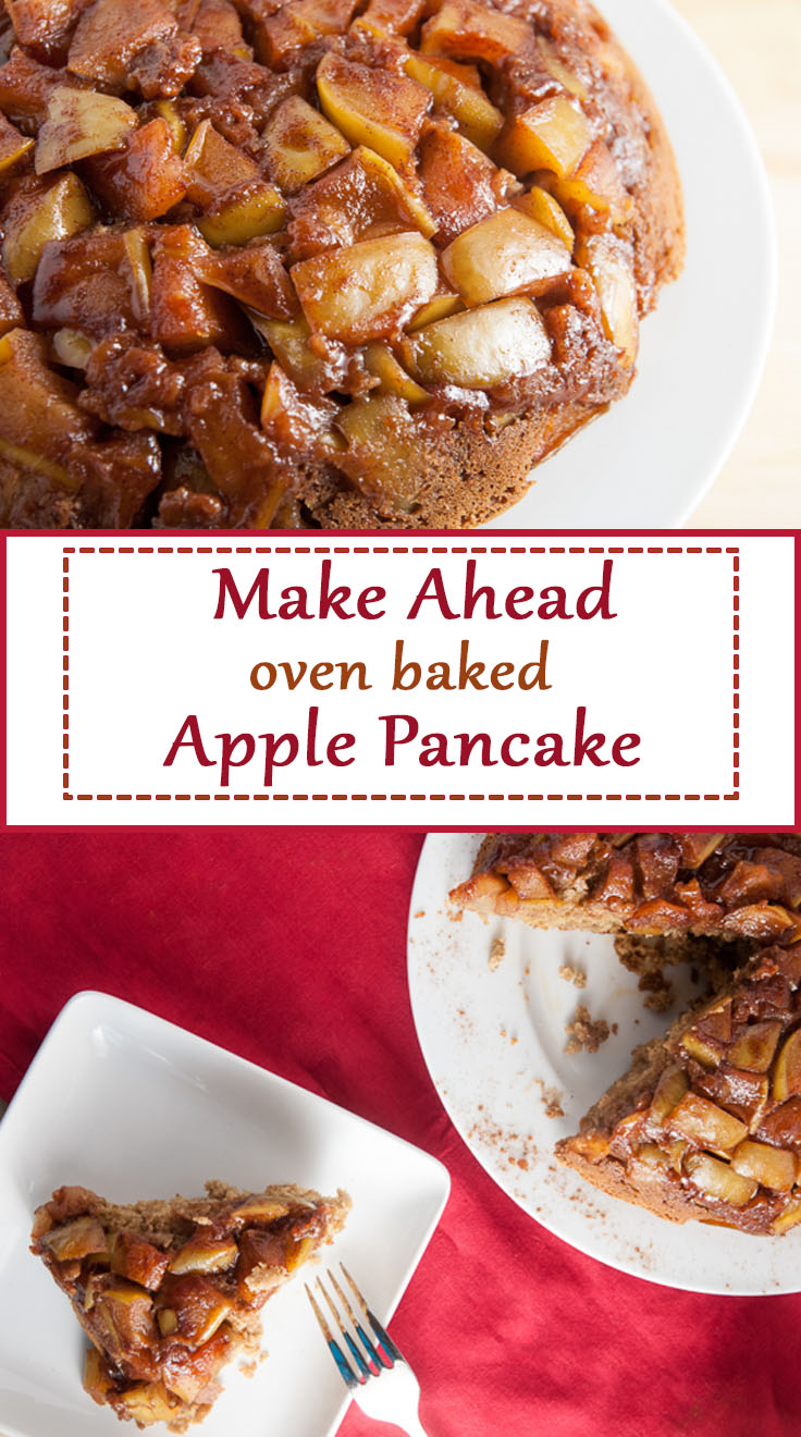 Make Ahead Oven Baked Apple Pancake