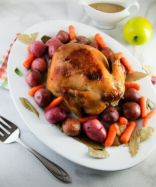 Apple Cider Brined Chicken. Follow this technique to make the perfect brined Turkey this Thanksgiving.