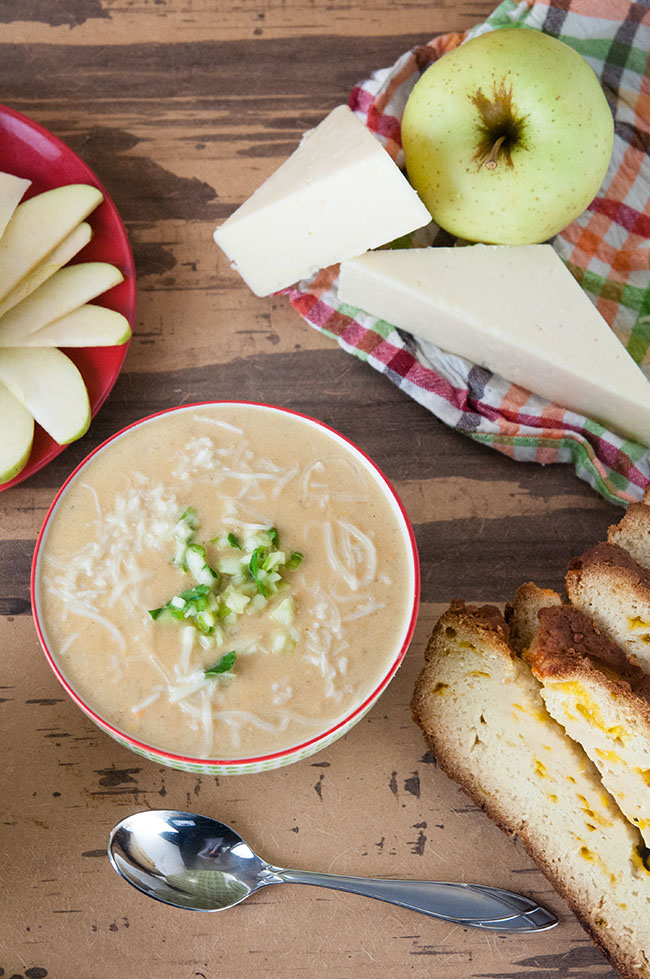 Cheddar Apple Soup