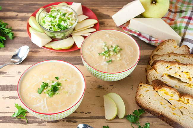 Cheddar Apple Soup