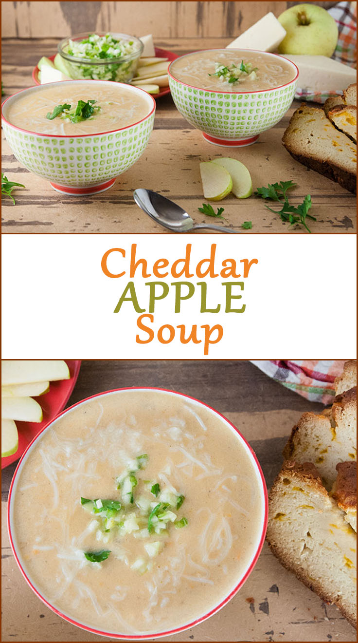 Easy Cheesy Cheddar Apple Soup