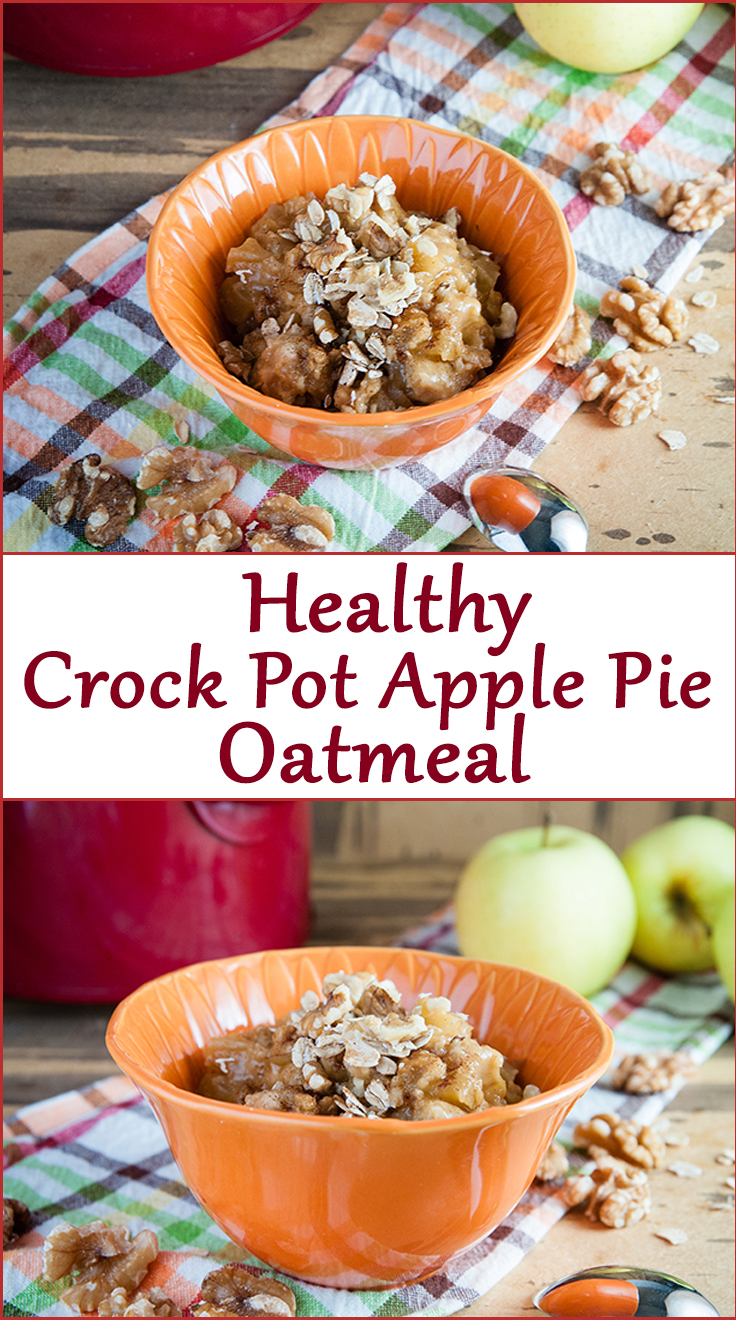 Crock Pot Apple Pie Oatmeal - Seasoned Sprinkles Seasoned Sprinkles