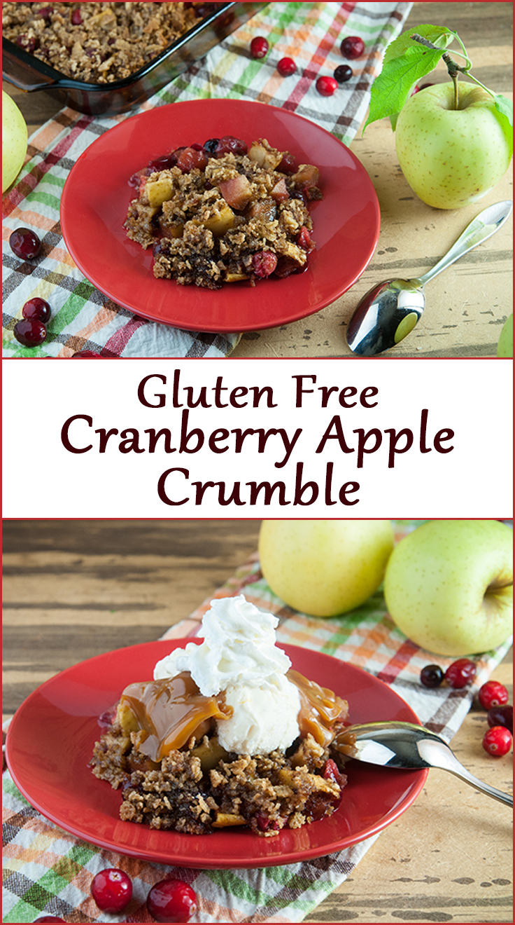 Gluten Free Cranberry Apple Crumble for Thanksgiving