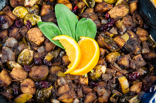 Orange Balsamic Fall Vegetable Skillet: Perfect for Thanksgiving or Christmas