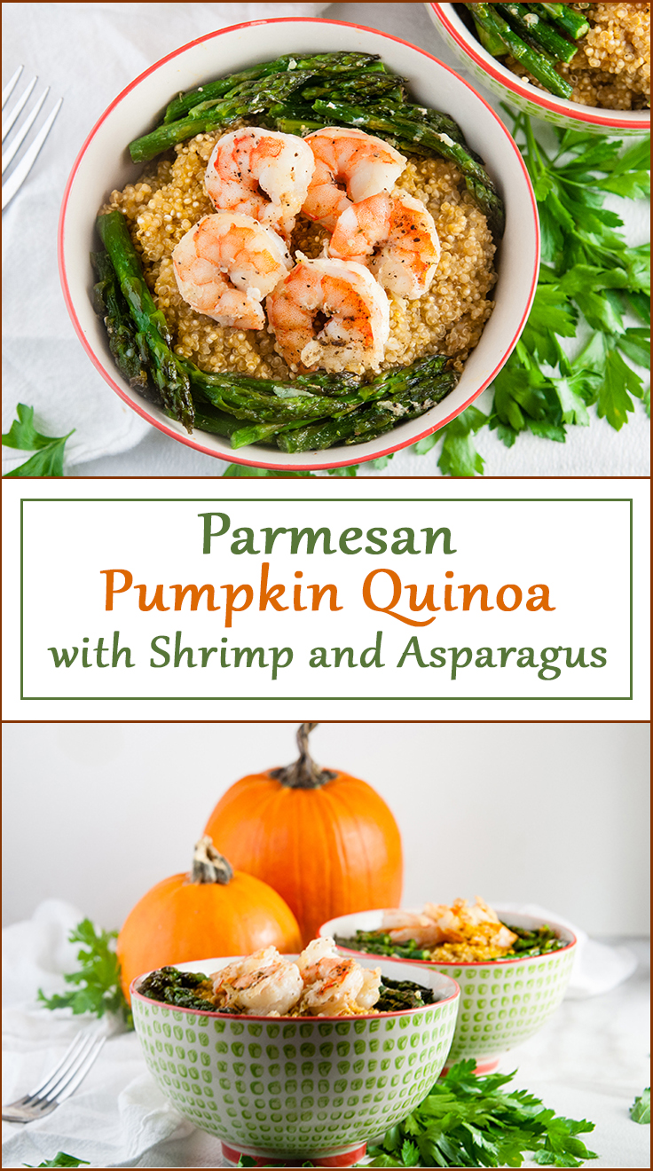 Parmesan Pumpkin Quinoa from www.SeasonedSprinkles.com