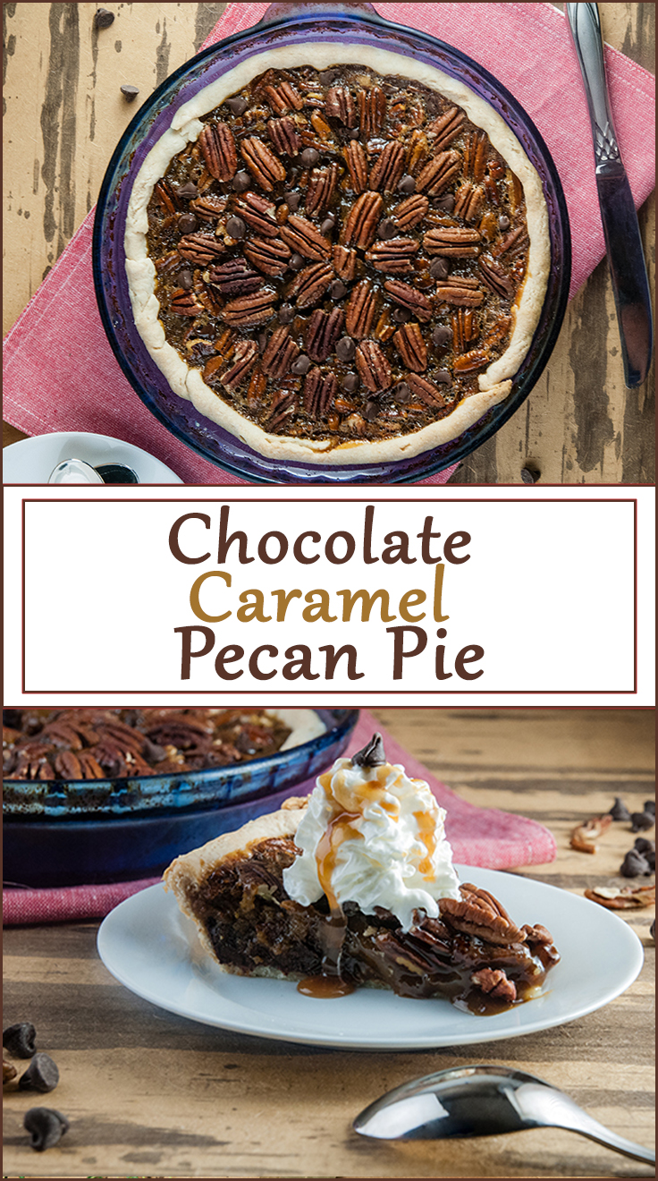 Chocolate Caramel Pecan Pie from www.SeasonedSprinkles.com