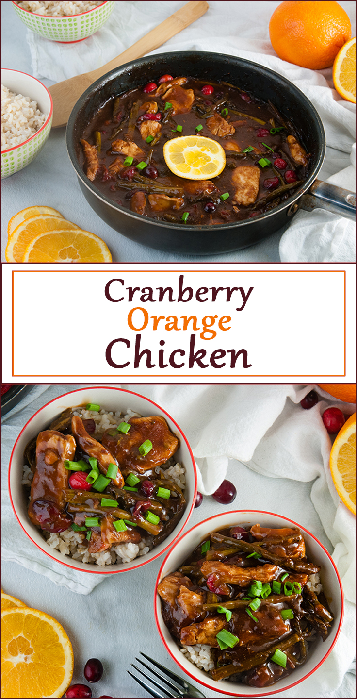 Cranberry Orange Chicken from www.SeasonedSprinkles.com