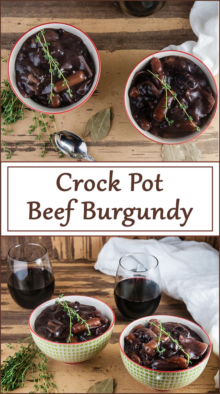 Crock Pot Beef Burgundy from www.SeasonedSprinkles.com