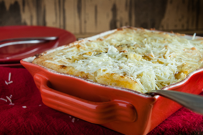 Parmesan Garlic Twice Baked Potato Casserole