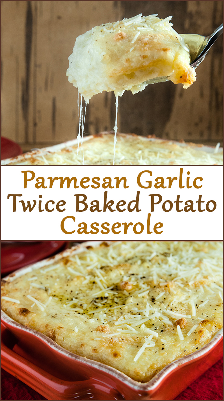Parmesan Garlic Twice Baked Potato Casserole from www.SeasonedSprinkles.com