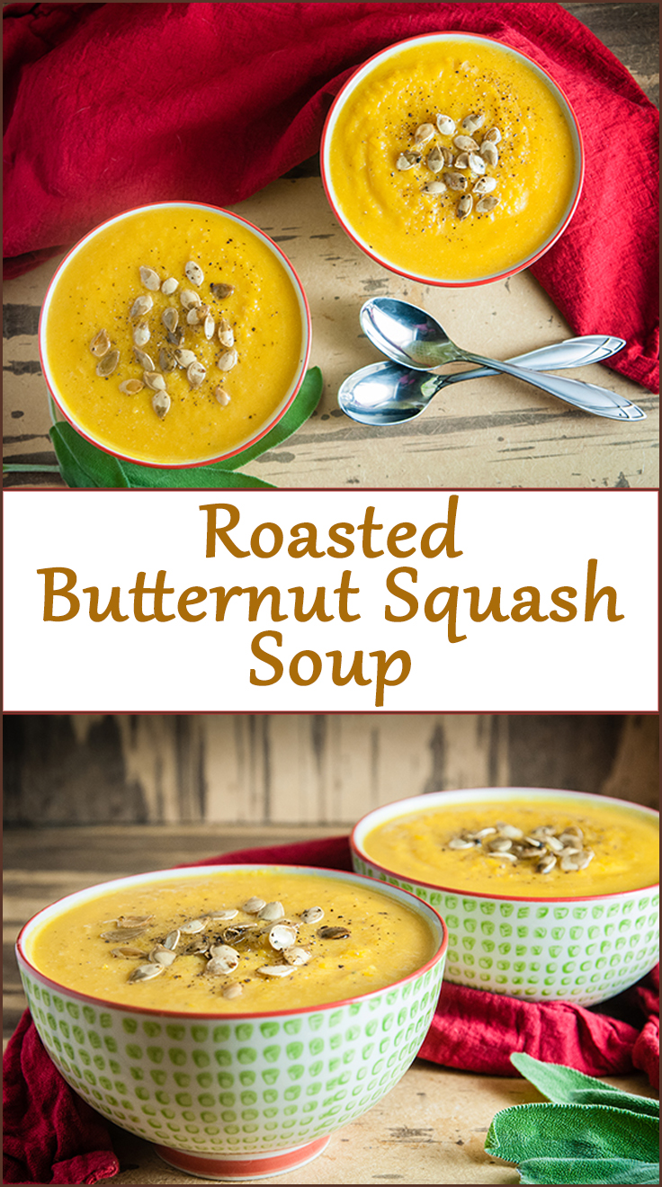 Easy Roasted Butternut Squash Soup from www.SeasonedSprinkles.com