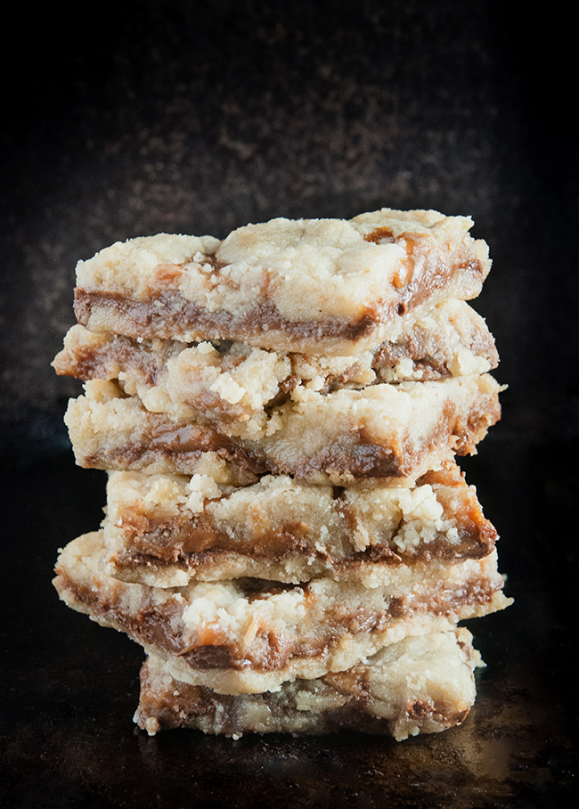 Gluten free Salted Caramel Chocolate Chip Butter Bars