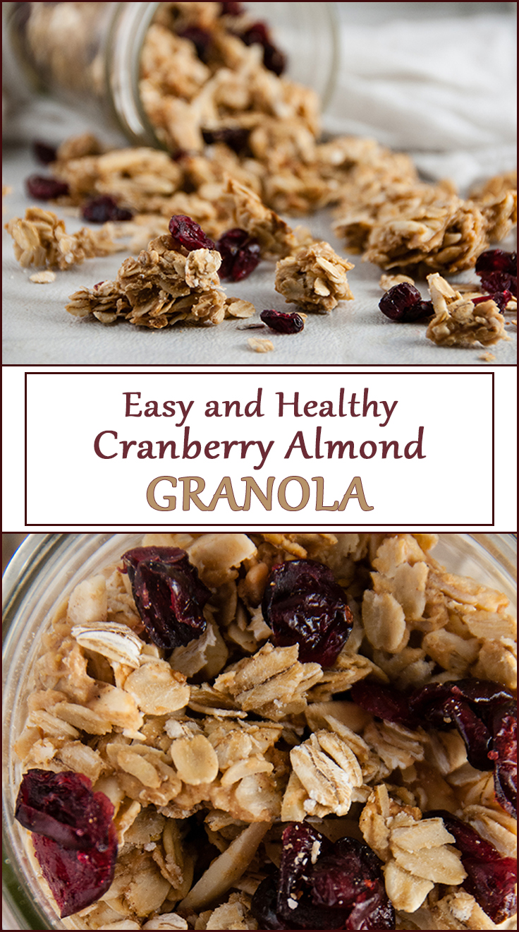 Healthy and Easy Cranberry Almond Granola from www.SeasonedSprinkles.com