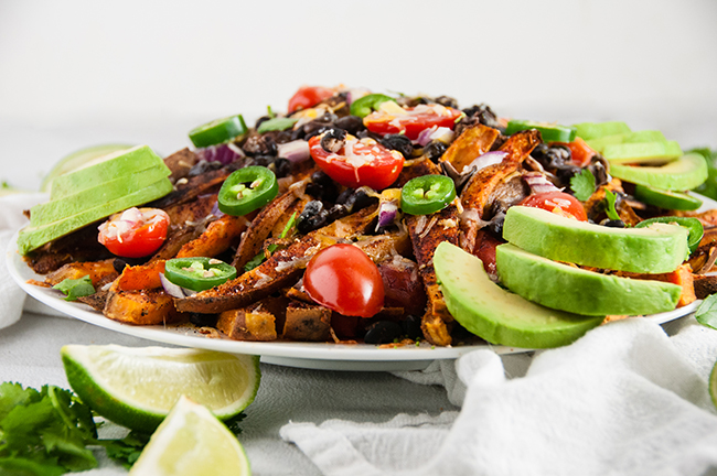 Healthy Loaded Sweet Potato Fries