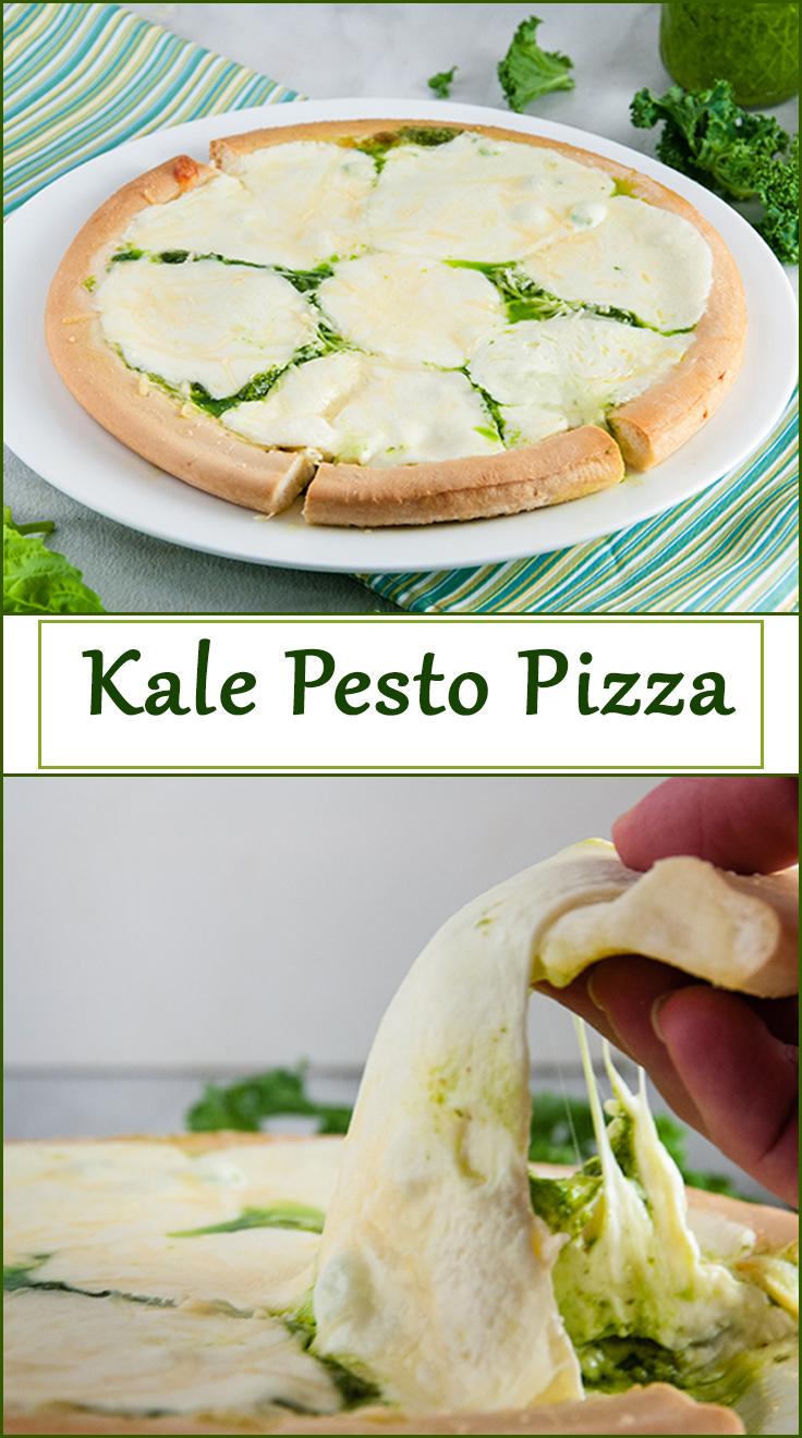 Kale Pesto Pizza from www.SeasonedSprinkles.com
