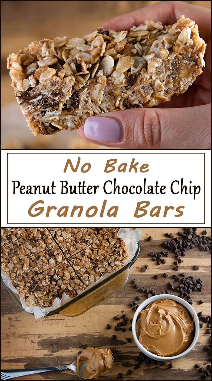 No Bake Peanut Butter Chocolate Chip Granola Bars from www.SeasonedSprinkles.com